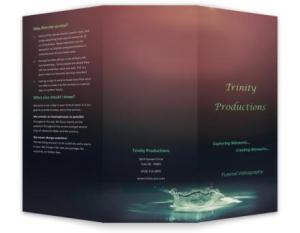 Funeral Videography Brochure